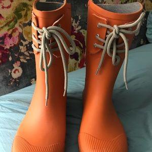 Shoes - Orange Rain Boots